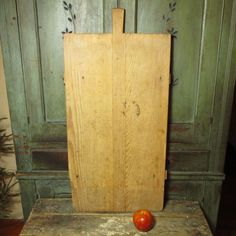 Granny's Early Old European Farmhouse Noodle Board with Handle #HannahsHouseAntiques #Primitives http://www.rubylane.com/item/497177-7682