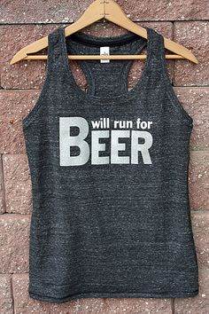 Will Run for Beer Triblend Tank