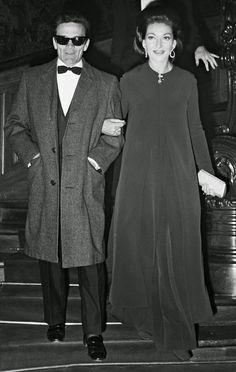 "Pasolini and Maria Callas at the ""Medea"" premiere in Paris"