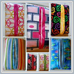 Pocket or Purse Fabric Tissue Holder  Many by ColdStreamCrafts