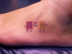 This is so cute! PB&J love @Erika Hashimoto Lets do it! You be the jelly and i be the PB! But on the ankle