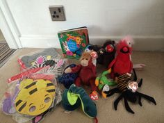 Rumble in the jungle story sack Preschool Jungle, Story Sack, Sensory Book, Rumble In The Jungle, Early Literacy, Sacks, Foundation, Boxes, Kids Rugs