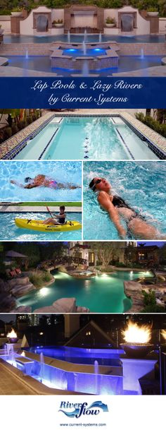 Lazy Rivers and Lap Pools by Current Systems #lazyrivers #lappools http://current-systems.com/