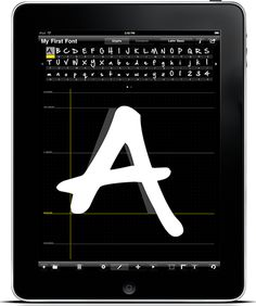 Área Visual: Diseña tus propias tipografías con iFontMaker