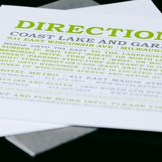 Custom fresh wedding invitation design by Paperwhites (paperwhites-invitations.com) #gray #lime #enclosurecard