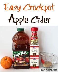 Slow Cooker Apple Cider Easy Crock Pot Recipe!  This delicious Spiced Cider will warm you to the toes on a chilly day, and is a holiday must-have!