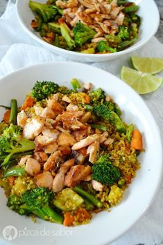 Healthy Salad Recipes, Healthy Chicken Recipes, Healthy Cooking, Healthy Snacks, Healthy Eating, Salada Light, Shrimp And Quinoa, Health Dinner, Morning Food