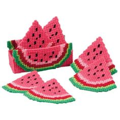Craftways® Watermelon Delight Coasters with Holder Plastic Canvas Kit Was: $16.00                     Now: $9.99