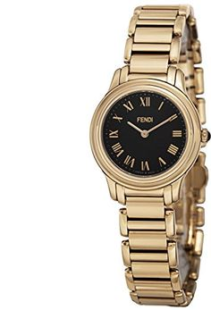 Fendi Women's F251421000 Classico Analog Display Quartz Gold Watch ** Visit the image link more details.