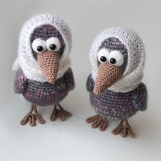 Two curious crows were made as a special gift for best friend :D And do you want to make them too? Follow this free amigurumi pattern!