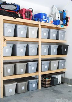 How To Organize Everything with this Brilliant New Organization Tool (Making Lemonade) Tool Shed Organizing, Storage Shed Organization, Garage Workshop Organization, Garage Storage Solutions, Storage Sheds, Organising, Shed Shelving, Garage Storage Shelves, Basement Storage