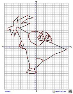 Pikachu from Pokemon Coordinate Graphing Picture 4 quadrant graphing ...