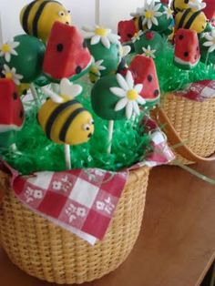 Sweet Treats by Bonnie: Summer Picnic Cake Pop Bouquet
