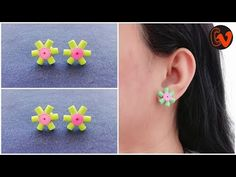 How To Make Quilling Stud Earrings / Tutorial / Paper Quilling Earrings / Design 32 Hello all, Welcome to Creative V Channel, here you can watch and learn ho. Fringe Earrings, Heart Earrings, Statement Earrings, Stud Earrings, Quilling Studs, Paper Quilling Earrings, Evil Eye Earrings, Peridot Earrings, Anniversary Gifts For Wife