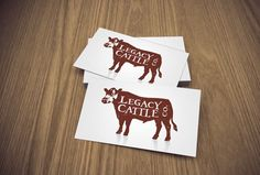 Black angus cattle grazing in field business card templates this cattle business cards colourmoves