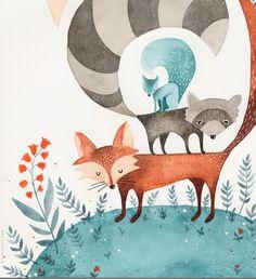 Woodland animals Eva Juliet