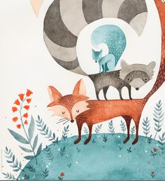 Woodland animals Eva Juliet