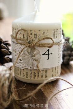 Shabby Soul:My Advent Candles Centerpiece
