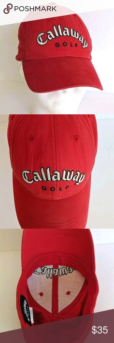 Callaway Golf Strapback Red Hat Big Bertha Red strapback hat with Callaway  embroidered on front and f76d89215946