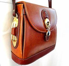 vintage 1990s 2 tone leather Rina Rich box purse cross par afantee, $40.00