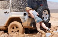 a Real JEEP girl, in a short-skirt, you know a guy took this pic.