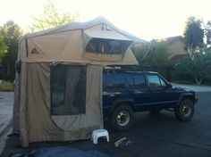 Jeep Cherokee XJ tent   Found on cherokeeforum.com
