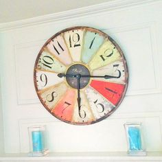 Gare du Nord pastel wall clock - looks like a DIY project to me  :-)