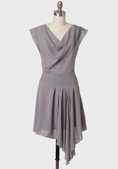 """Delicate Grace Draped Dress 