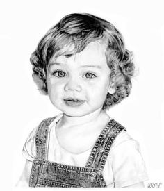 55 Different Girls Drawing Ideas - Art Cool Pencil Drawings, Amazing Drawings, Realistic Drawings, Pencil Art, Amazing Art, Art Drawings, Graphite Art, Graphite Drawings, Baby Drawing