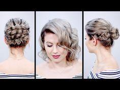 VALENTINE'S DAY INSPIRED SHORT HAIRSTYLES TUTORIAL | Milabu - YouTube