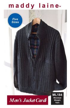 Classy and classic cardigan for men. Cardigan Pattern, Knit Cardigan, Baby Patterns, Knitting Patterns, Stitch Patterns, Outdoor Wear, Cardigan Fashion, Sweater Weather, Men's Jacket