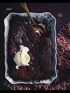 Chocolate self saucing pudding 1