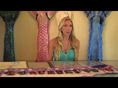 Swimming in a Silicone Mermaid Tail | Purple Rainbow Tails - YouTube