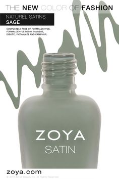 Zoya Sage from the Naturel Satins Collection