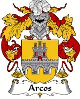 Arcos Family Crest Coat of Arms #apparel #gifts #glassware #embroideries #prints #history #gift #scrolls #mugs #steins #flags #family #reunion #wine #glasses #genealogy #code of arms #shield #mousepads #shirts #t-shirts #jpeg