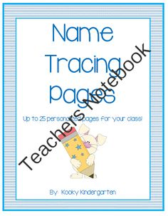 Name Tracing Pages (Up to 25 personalized pages for your class) from KookyKindergarten on TeachersNotebook.com -  (25 pages)  - Purchasing this pack will provide you with up to 25 pages of personalized name writing pages. There are two styles available.
