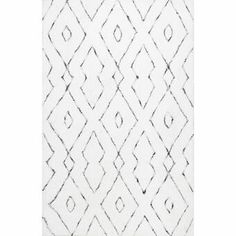 Shop nuLOOM White Handmade Soft and Plush Diamond Lattice Shag Area Rug - On Sale - Overstock - 10610450 - x - White In China, Living Room Carpet, Rugs In Living Room, Room Rugs, Living Area, Plush Area Rugs, Polyester Rugs, Modern Area Rugs, White Area Rug