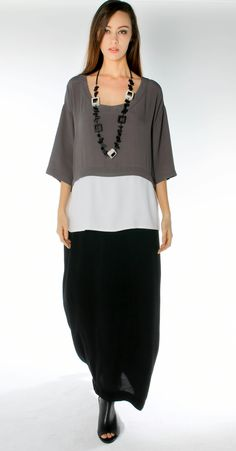 Morgan Marks s/s 2015-16 Australian designer 3 layer viscose crepe dress