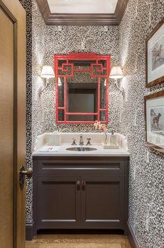 China Seas Arbre de Matisse wallpaper. Interior Design by Kelley Myerberg Interiors.