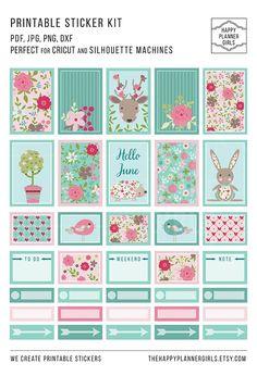 Cute printable sticker kit ♥️︎ #stickers #planner