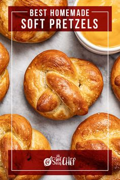 We love soft pretzels! This recipe has a warm, buttery, salty exterior and is delicious by itself, or dunked in your favorite cheese dip! Yummy Recipes, Snack Recipes, Yummy Food, Snacks, Chef Recipes, Tasty, Hawiian Food, My Favorite Food, Favorite Recipes