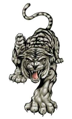 angry tiger tattoo - Google Search