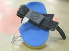 A sole that saves energy in a battery when the user walks.