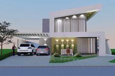Planta de casa com design moderno - Projetos de Casas, Modelos de Casas e…