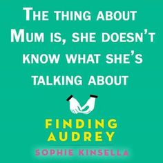 Finding Audrey by Sophie Kinsella Finding Audrey, Video Film, Video Games, Films, Books, Life, Movies, Videogames, Libros