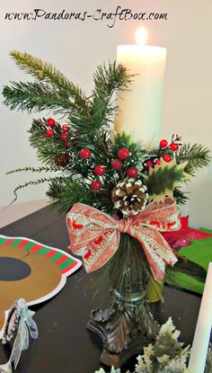 Christmas Table Decorating Ideas ~ Pandora's Craft Box