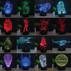 Lampada IHOMELF Marca 3D Batman Star Wars bambini nightlight illusion isual  Led Night Lights Illusion Lamparas 04fa0c5c9