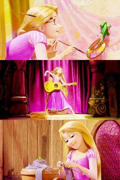 Rapunzel and her creativity