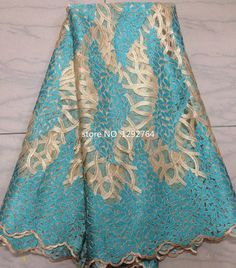 Free Shipping for 5 Yards !! 2015 Newest Fashion French Lace fabric with Sequins Wedding Dress TS2111