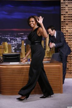 Michelle Obama looks so good in this jumpsuit